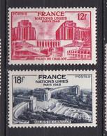 N° 818 Et 819 Assemblée Générale Des Nations Unies à Paris :   Belle Série En Timbres Neuf Impeccable Sans Charnière - Unused Stamps