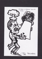 CPM Libye Par JIHEL Tirage Limité Signé En 350 Ex. Numérotés Sarkozy Nucléaire - Libya