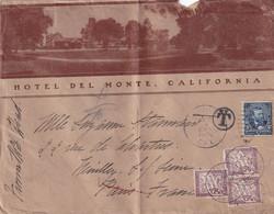 N°37 X 3 Sur Lettre Etats-Unis (4eme échelon) - 1903 - Cartas Con Impuestos