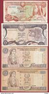 Chypre 4 Billets Dans L 'état - Cyprus