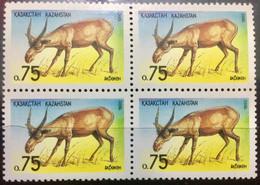 KAZAKHSTAN 1994 MNH STAMP ON ANIMAL ANTILOPE BLOCK OF 4 - Kazakhstan