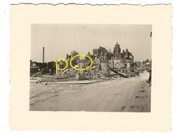 WW2 PHOTO ORIGINALE ALLEMANDE Ruines Près église De GISORS P. Les Andelys Courcelles Sur Seine Gaillon Aubevoye Vernon - 1939-45