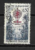 1121 Lutte Contre Le Paludisme YT 1338 Perforé Perfin 1962 - Perforadas