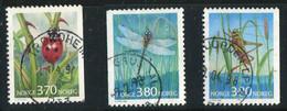 (CL 14 - P.53) Norvège Ob N° 1193 - 1232 - 1233 - Coccinelle, Libellule, Sauterelle - Zonder Classificatie