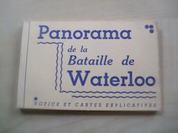 Carnet Ancien De 12 Vues  PANORAMA DE LA BATAILLE DE WATERLOO - Waterloo