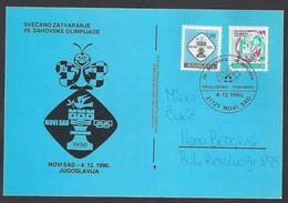 Chess, Yugoslavia Novi Sad, 04.12.1990, Cancel On Card, 29th Chess Olympiad - Chess
