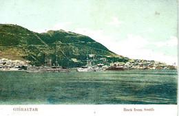 Gibraltar Rock From South Carte Precurseur Paquebots - Gibraltar