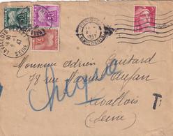 8 JANVIER 1947 - Minimum De Perception Sur Lettre Affranchie Gandon - 1859-1955 Briefe & Dokumente