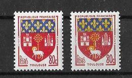 VARIETE DE COULEUR N° 1182 ( Clair/foncé) NEUF** - Curiosities: 1950-59 Mint/hinged