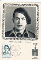 Carte Maximum FDC Fred Scamaroni Héros De La Résistance Ajaccio 1958 1er Jour - Militaria