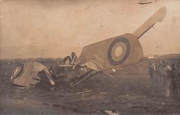 Aviation - Accident D'AVION Breguet- Militaires - Lachen-Speyerdorf - Carte-Photo - Incidenti