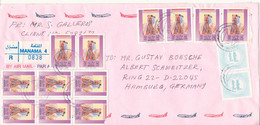 Bahrain Registered Air Mail Cover Sent To Germany 28-4-1999 - Bahrain (1965-...)