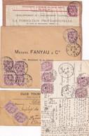 N°108 JOLI LOT DE 4 DOCUMENTS DIFFERENTS - 1900-29 Blanc