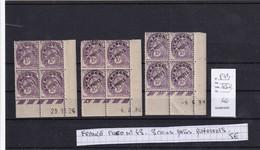 PREO N°43 - 3 Coins Datés Différents - Cote 45 Euros - 1900-29 Blanc