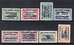 RUANDA URUNDI 28B/35B MNH 1916 - Est Africain Occupation Belge - 1916-22: Mint/hinged