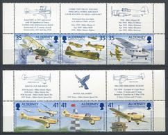 298 ALDERNEY 1995 - Yvert 83/88 - Avion + Bord De Feuille - Neuf ** (MNH) Sans Charniere - Alderney