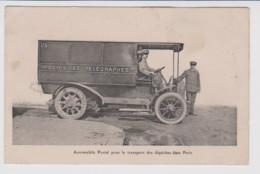 - 75 – PARIS – POSTES – TELEGRAPHE - AUTOMOBILE POSTAL POUR LE TRANSPORT DES DEPECHES DANS PARIS Circulée 1918 - Artigianato Di Parigi