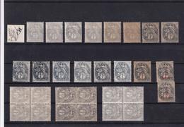 JOLI NUANCIER N°107 */** TYPE 1a/1b - 1900-29 Blanc