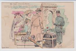 73 – AIX LES BAINS – CARTE HUMORISTIQUE « Ma Cure D'Aix Les Bains » Caricature De S. Crell. Circulée 1914. - Aix Les Bains