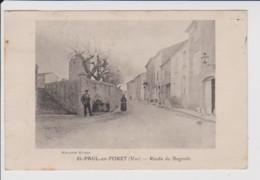 83 – SAINT PAUL EN FORET – ROUTE DE BAGNOLS (Mercerie Mireur). Circulée Et Cachet A Date Perlé Au Verso (1923) - Altri Comuni