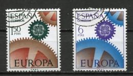 Espagne - Spain - Spanien 1967 Y&T N°1448 à 1449 - Michel N°1682 à 1683 (o) - EUROPA - 1961-70 Used