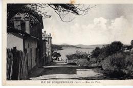 83-ILE DE PORQUEROLLES- RUE DU PORT - ANIMEE - Porquerolles