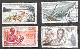 A.E.F.   Poste Aérienne      N° Y&T  PA58 à PA61  (o) - Usados