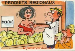 Produits Régionaux,  Avec Vendeuse Aux Seins Nus - Humour