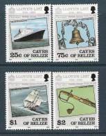 1984 Cayes De BELIZE 10-13** Bateaux, Cloche - Belize (1973-...)