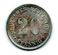 20 Pfennig 1874 G SUP+ - 20 Pfennig
