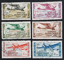 A.E.F.   Poste Aérienne - Paysages       N° Y&T  PA1 à PA6  (o) - Usados