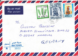 Bahrain Registered Air Mail Cover Sent To Germany Isa Town 18-2-2001 - Bahrain (1965-...)