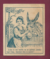 120421 - ETIQUETTE DEVINETTE ENFANT - DESSIN AVEC RECHERCHE ENIGME - PUB PHARMACIE LA GALENIQUE âne Maître - Giocattoli Antichi