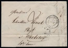 LAC Villersexel 69 Haute Saone CAD 15 30 Octobre 1849 Taxe Manuelle 2 Décimes CAD 15 Vesoul Et Melisey Peu Lisible RARE - 1849-1876: Classic Period