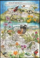 2010 Czech Republic Dolny Morava Biosphere Reserve: Birds, Cricket, Lizard Minisheet (** / MNH / UMM) - Sperlingsvögel & Singvögel