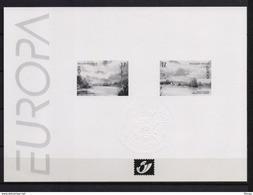 2815/2816 EUROPA  ZWART WIT VELLETJE 1999 - Zwarte/witte Blaadjes