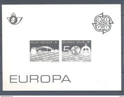 2454/2455 EUROPA  ZWART WIT VELLETJE 1992 - Zwarte/witte Blaadjes