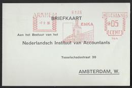 ENKA - Eerste Nederlandsche Kunstzijdefabriek Arnhem - Arnhem - Marcophilie - EMA (Empreintes Machines)