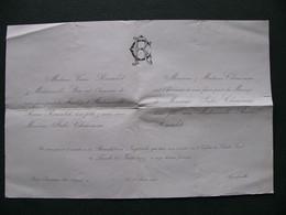 Faire Part Mariage 1907 PONT ROUSSEAU 44 AIGREFEUILLE 17 - Boda