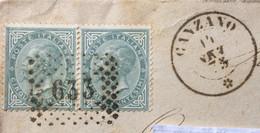 ABRUZZO - CANZANO 14 SET 73  D.c. + PUNTI Su COPPIA 5  C. - PIEGO PER GIULIANO DI ROMA - Marcophilia