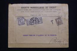 TUNISIE - Taxes De Bône Sur Enveloppe Commerciale De Tunis, Affranchissement Perforé - L 94839 - Covers & Documents