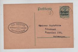 REF3914/ Entier CP 5 C Alb.Verheyen Gemeenteontvanger Hoboken Càp Hoboken 16/8/15 > Antwerpen Pas De Censure - [OC1/25] General Gov.