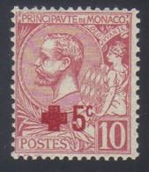Monaco Prince Albert 1er Au Profit De La Croix Rouge +5 C. S. 10 C. Rose  N° 26** Neuf - Nuovi