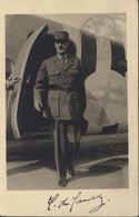 Exposition Philatélique 24 11 46 Lyon CP + Autographe Signature Général Charles De Gaulle YT 669 739 771 - 1921-1960: Modern Period