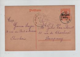 REF3915/ Entier CP 8 C C.Auvelais 1917 Censure Namur > Dampremy C.d'arrivée 13/12/17 - [OC1/25] Gen. Gouv.