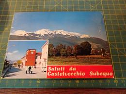 61200/19  Cartolina Di CASTELVECCHIO SUBEQUO  Usata Per Concorso - L'Aquila