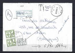 Belgique: Tx 80 Et 83 Sur Lettre ( Vignette Absent) - Lettere