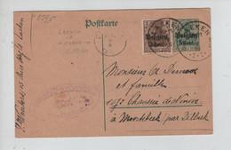 REF3916/ Entier CP 5 C + TP C.Laeken 7/10/16 Censure Brüssel > Moortebeek Par Dilbeek C.d'arrivée Dilbeek 8/10/16 - [OC1/25] Gen. Gouv.