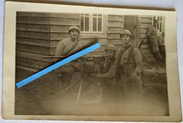 1916 Soissons Saint Waast 144 Eme RI Mitrailleuse Hotchkiss Cartouchières Toile Tranchée Ersatz Poilu Ww1 14-18 Photo - Guerra, Militari