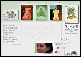 Carte Souvenir / Herdenkingskaart - DUOSTAMP°/MYSTAMP° Autocollant / Zelfklevend - Marijke Meersman - Vlinders
